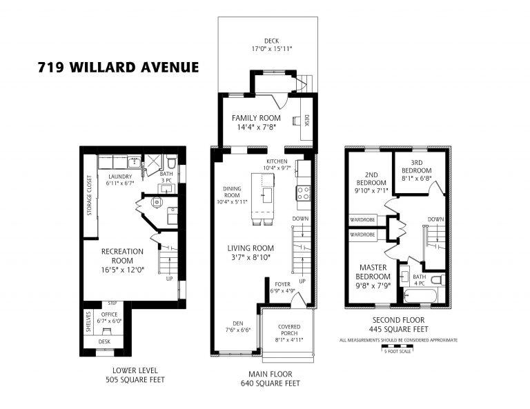 719 WIllard Ave Floorplan