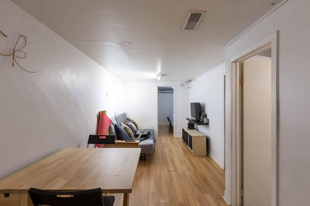 1 1-2 Montrose Ave Toronto ON M6J 2T7 – Basement Apartment Dining Area